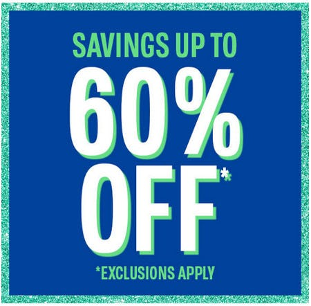 Savings Up to 60% Off from The Children's Place