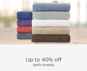 Up to 40% Off Bath Towels
