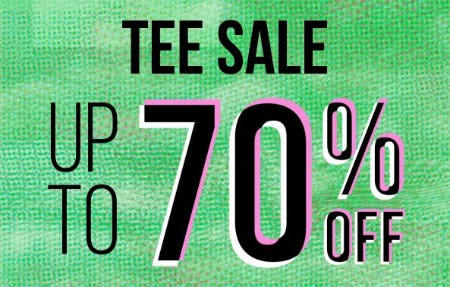 Tee Sale: Up to 70% Off