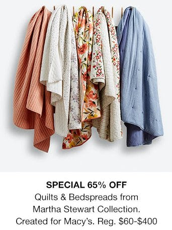 65% Off Quilts & Bedspreads from Martha Stewart Collection from macy's