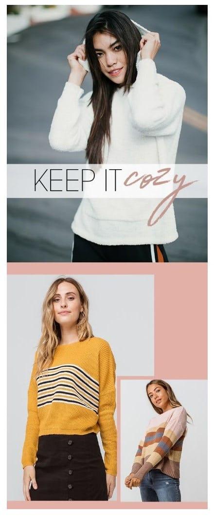 Keep It Cozy: Sweaters & Cardigans