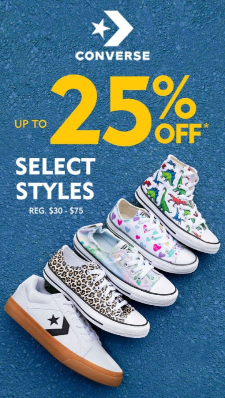 Up to 25% Off on Select Converse Styles