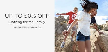 Up to 50% Off Clothing for the Family from Sears
