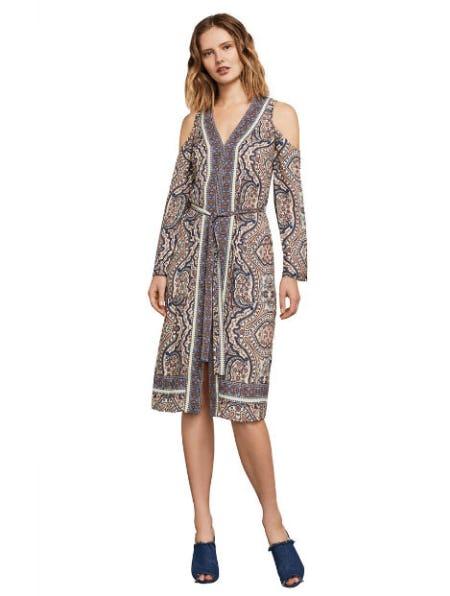 Cindi Cold-Shoulder Robe Dress from BCBGMAXAZRIA