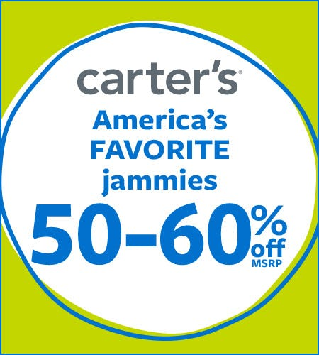 America's Favorite Jammies 50-60% Off*