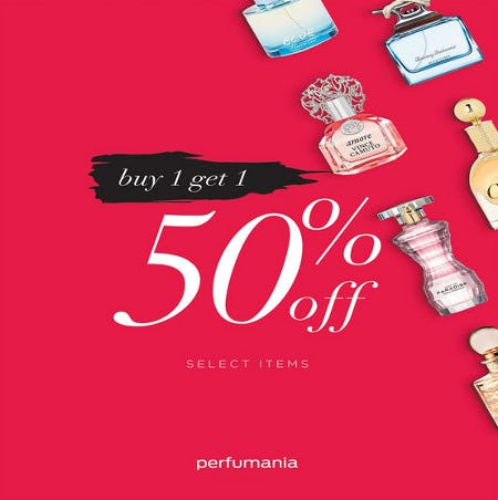 Perfumania Buy One Get One 50% off (select items) from Perfumania