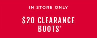 $20 Clearance Boots from Torrid