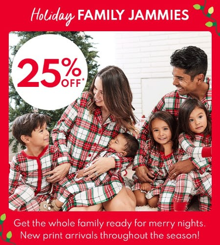 25% Off Holiday Family Jammies from Carter's