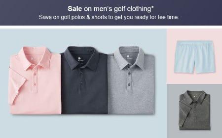 Sale on Men's Golf Clothing