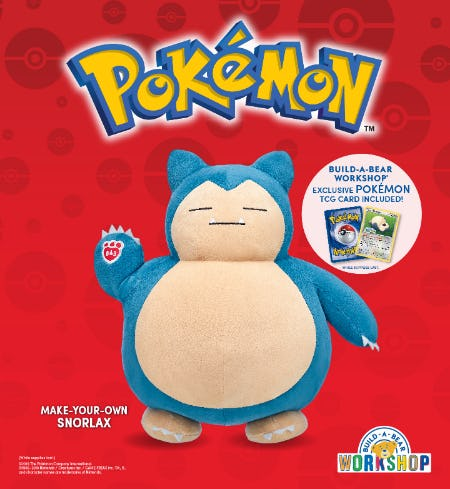 Wake Up, Pokémon Trainers! Snorlax Is Now at Build-A-Bear Workshop!®