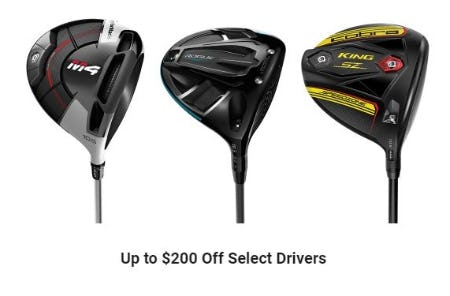 Up to $200 Off Select Drivers from Dick's Sporting Goods