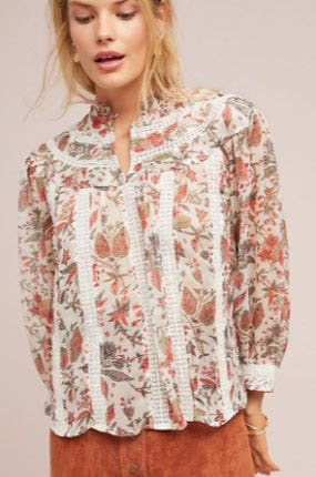 Floral Elena Blouse from Anthropologie