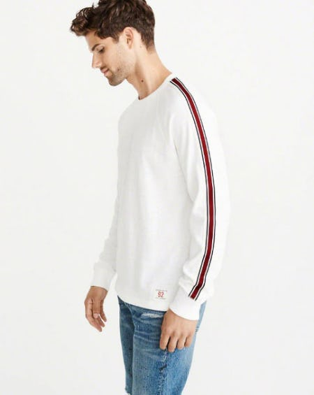 Varsity Tape Long-Sleeve Tee from Abercrombie & Fitch