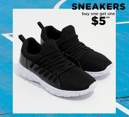 BOGO $5 Sneakers from rue21
