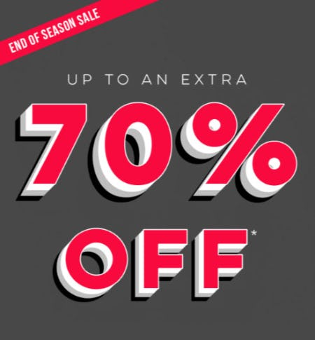 Up to an Extra 70% Off End of Season Sale