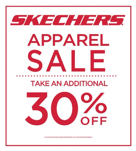 Skechers Apparel additional 30% off from Skechers