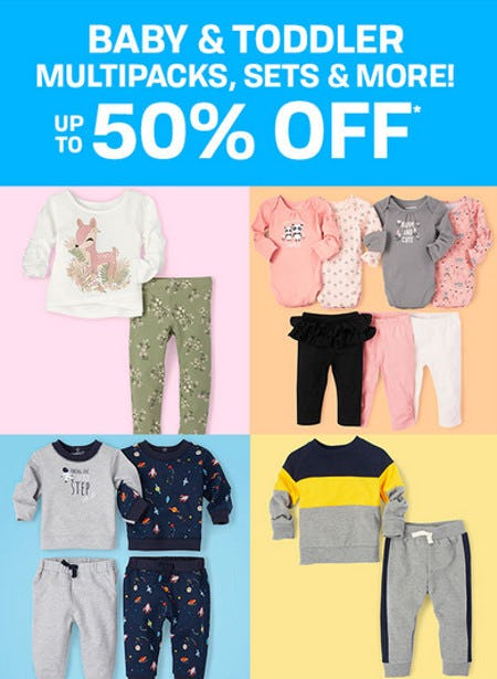 Up to 50% Off Baby & Toddler Multipacks, Sets & More from The Children's Place