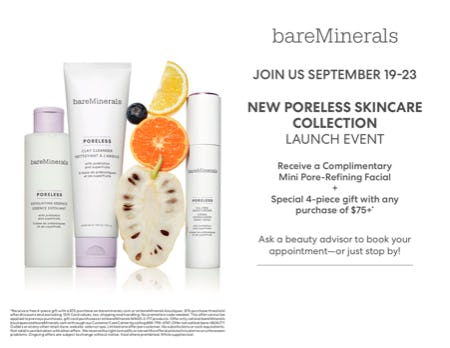 NEW Poreless Collection Events from bareMinerals