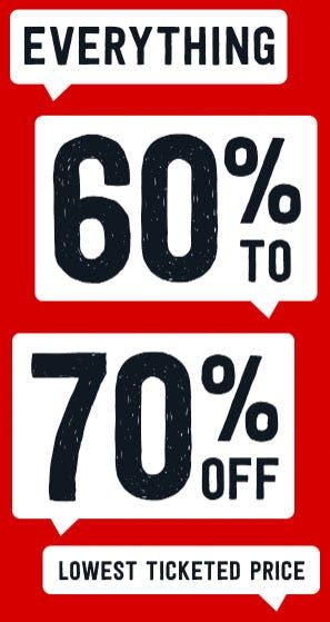 948d1f5f06abe 60% to 70% Off Everything from Crazy 8