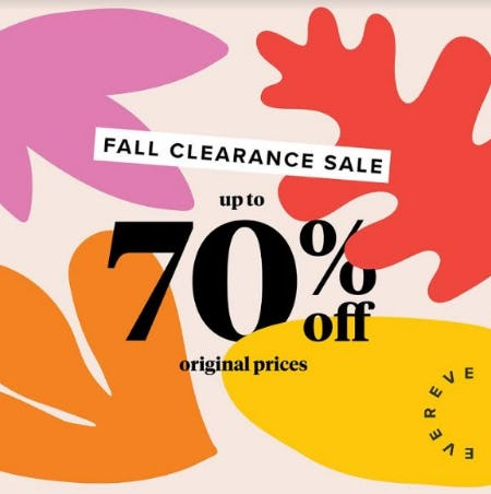 Fall Clearance Sale from Evereve