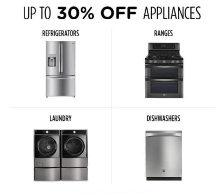 Up to 30% Off Appliances from Sears