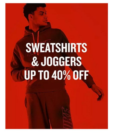 Sweatshirts & Joggers Up to 40% Off from JD Sports
