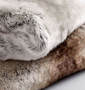 New Faux Fur Throws from West Elm