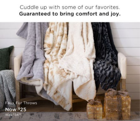 Faux Fur Throws Now $25 from Kirkland's Home