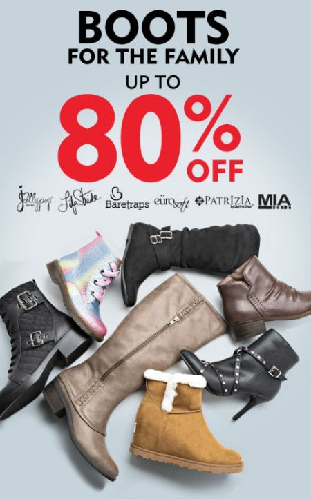 Up to 80% Off Boots for the family