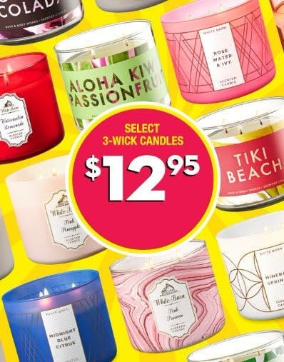 Select 3-Wick Candles $12.95