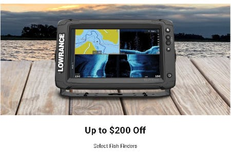 Up to $200 Off Select Fish Finders from Dick's Sporting Goods