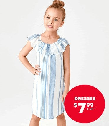 Shop Dresses $7.99 & Up from The Children's Place