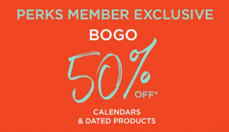 BOGO 50% Off Calendars & Dated Products