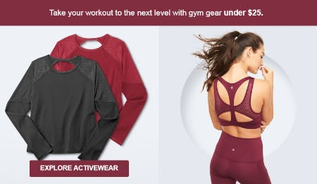 Gym Gear Under $25 from Target