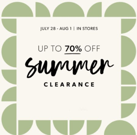 Up to 70% Off Summer Clearance from Evereve