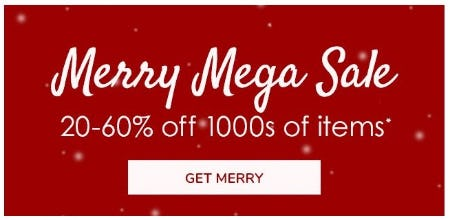 Merry Mega Sale 20–60% Off from Pottery Barn Kids