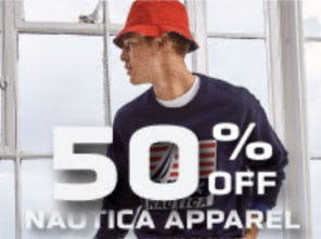 50% Off Nautica Apparel
