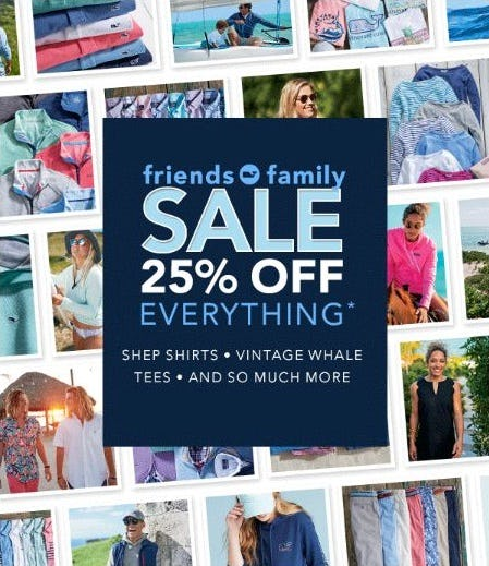 Friends & Family Sale: 25% Off from vineyard vines