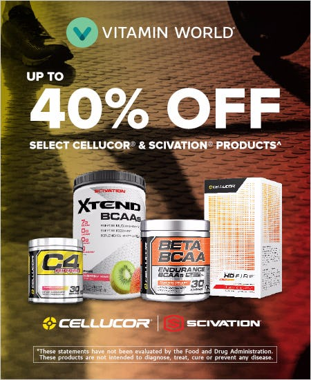 Up to 40% OFF Cellucor & Scivation Brand Products