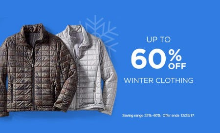 Up to 60% Off Winter Clothing
