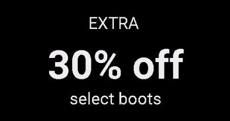 Extra 30% Off Select Boots from ALDO