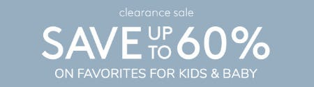 Clearance Sale: Save Up to 60% from Pottery Barn Kids
