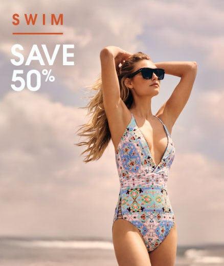 50% Off Swim from Bloomingdale's