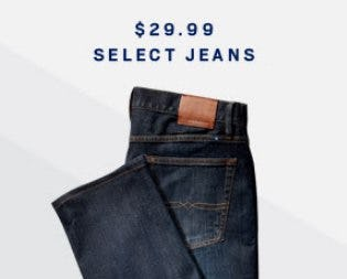 $29.99 Select Jeans from Men's Wearhouse