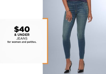 $40 & Under Jeans from Kohl's