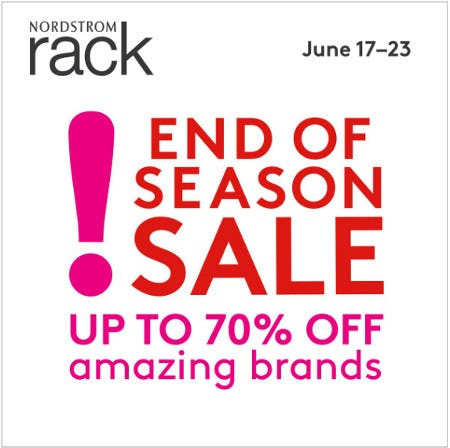 END OF SEASON SALE from Nordstrom Rack
