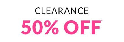 Clearance 50% Off