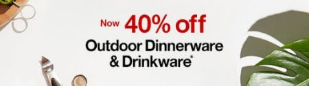 Outdoor Dinnerware & Drinkware Now up to 40% Off from Crate & Barrel