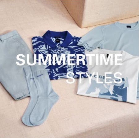 Summer Favorites for Warm Weather from Hugo Boss