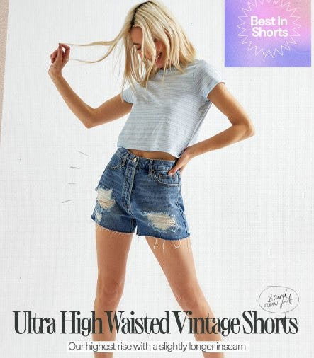 Introducing: Our NEW Ultra High Waisted Vintage Shorts from PacSun